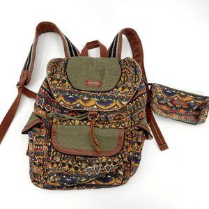 Sakroots Artist Circle Flap Boho Peace Backpack